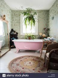 rosa doppel endete roll top freistehende badewanne im