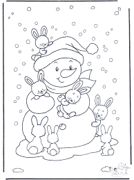 Free Coloring Pages Rabbit