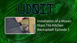 Glass Tile Nippers Menards by Installation Of Mosaic Glass Tile Kitchen Backsplash Installation