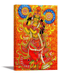 100 Krisana Tamatina Canvas Paintings Jai Sri Krishna Lord Krishna