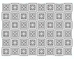 FREE Square Quilt Pattern Adult Coloring Page