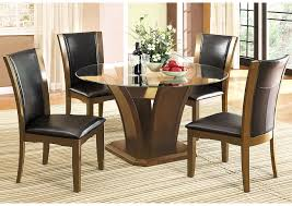Irving Blvd Furniture Manhattan L Round Glass Top Dining ... Simplicity 54 Counter Height Ding Table In Espresso Finish By Jofran Baxton Studio Sylvia Modern And Contemporary Brown Four Hands Kensington Collection Carter Chair Lanier Gray Fabric Michelle 2pack 64175 Pedestal Set Chateau De Ville Acme Whosale Chairs Room Fniture Napa Cheap Dark Wood Find Willa Arlo Interiors Sture Link Print Upholstered Safavieh Becca Grey Zebra Cottonlinen Mcr4502n