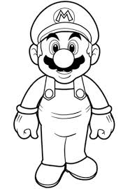 Click To See Printable Version Of Super Mario Coloring Page