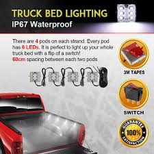 8pc Truck Bed White LED Lighting Light Kit For Ford Chevy Dodge GMC ... Truck Bed Lighting Kit 8 Modules Free Installation Accsories Cheap System Find Opt7 Aura 8pc Led Sound Activated Multi Lumen Trbpodblk 8pod Lights Ford F150 Where To Buy 12v White Light Strips For Cars Led Light Deals On Line At Aura Pod Multicolor With Remotes 042014 Rear Tailgate Emblem 2 Tow Hitch Cover White For Chevy Dodge Gmc Ledglow Installation Video Youtube 8pcs Rock Under Body Rgb Control