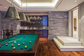 Basement Bar Lighting Ideas Family Room Contemporary With Neutral Colors Game Man Cave