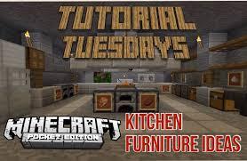 Minecraft Kitchen Ideas Keralis by Tutorial Tuesdays Mcpe Kitchen Ideas Youtube