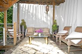 Outdoor Patio Curtain Ideas Deck Contemporary With Moroccan Living