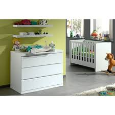 chambre bébé lit commode ensemble 4 pièces pour chambre bébé avec lit à barreaux 60x120 cm