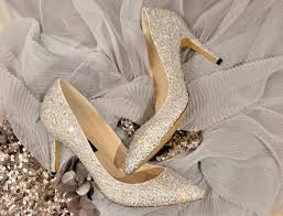 swarovski crystal white silver cinderella glitter bridal mid