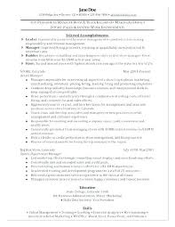 Resume Sample For Manager Retail