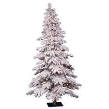 75 Flocked Christmas Tree by White Christmas Trees You U0027ll Love Wayfair