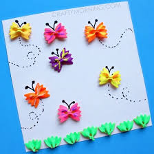 Bow Tie Noodle Butterfly Craft For Kids