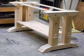 trestle table woodworking plans trestle table base fcf