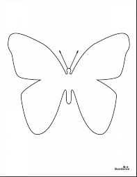 Outstanding Simple Butterfly Coloring Pages With For Toddlers And Pdf