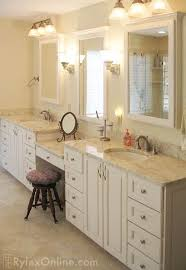 beautiful creative bathroom vanity with makeup station full height