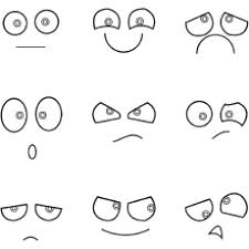 Eyes Emotions Happy Face Coloring Pages