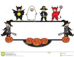 Free Cute Halloween Flyer Templates by Halloween Border Kids U2013 Festival Collections