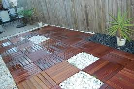 wood deck tiles on grass cabinet hardware room and