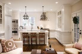 moroccan tile design kitchen transitional with medium wood floor