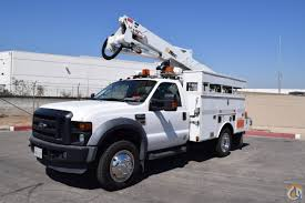100 Altec Boom Truck 2009 Ford F550 4x4 AT37G 42 Bucket Crane For Sale In