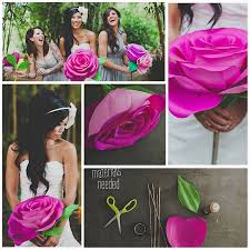 DIY Giant Paper Rose Flower Step By
