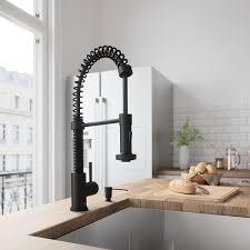Consumer Reports Kitchen Faucets 2014 by Vigo Edison Single Handle Pull Down Spray Kitchen Faucet Matte