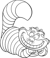 Cheshire Cat Coloring Page Alice In Wonderland Pages Free Printable Disney Images