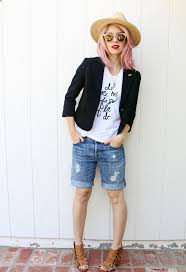 how to make your own boyfriend shorts u2014 and 8 ways to wear them