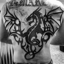 Gentleman With Chinese Tribal Dragon Tattoo
