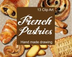 Digital Clip Art French Pastries Pastry