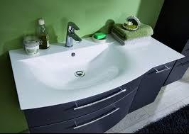 puris linea waschtisch mit unterschrank set 100 cm ablage rechts