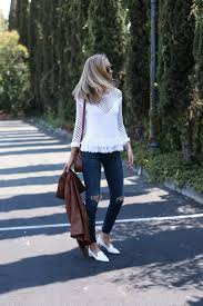 fringe sweater and ripped jeans in napa memorandum nyc fashion
