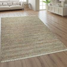 woll teppich wohnzimmer streifen muster