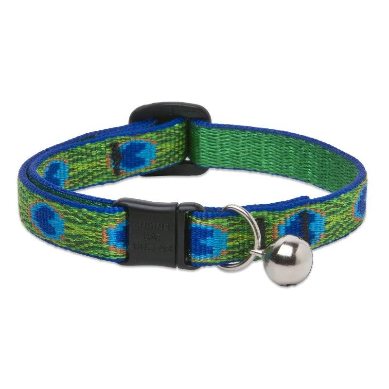 "LupinePet Originals Tail Feathers Cat Safety Collar with Bell - 1/2"" x 8-12"""