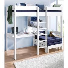 lit mezzanine 1 place avec bureau lit mezzanine avec plan de travail étagères mezzanine
