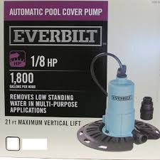 Decorative Outdoor Well Pump Covers by Amazon Com Everbilt 1 8 Hp Pool Cover Pump Pc00801g Patio