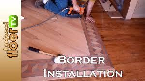 Hardwood Floor Spline Glue by Installing Hardwood Floor Borders Youtube
