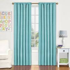 Teal Blackout Curtains 66x54 by Bedroom Curtains Ebay