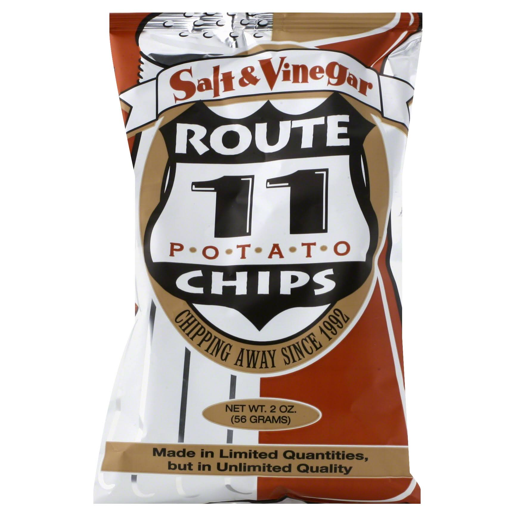Route 11 Salt and Vinegar Potato Chip - 2oz, Pack of 30