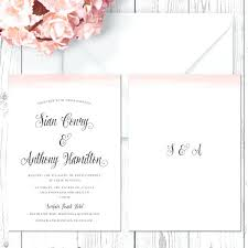Wedding Invitation Cardstock Coral Pink Watercolour Printed Double Sided On Luxury Peach Perfect Rustic