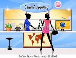 Travel Agency Stock Illustration
