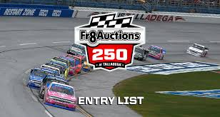 Fr8Auctions 250 Entry List - Talladega Superspeedway | MRN Weekend Schedule For Talladega Surspeedway Pure Thunder Racing No 22 Truck Will Have A Trumppence Paint Scheme Todd Gliland Goes Wild Ride Nascarcom Fr8auctions Set To Become Eitlement Sponsor Of Truck Bad Boy Mowers Returns To With Make Motsports Lyons Pairs Reaume For Race Speed Sport Free Friday Mechanical Woes Knock Chase Briscoe Out Series Playoffs At Kvapils Good Run Ends In The Big One At New Nascar Flaps Malfunctioning Select Teams News 2014 Freds 250 Camping World