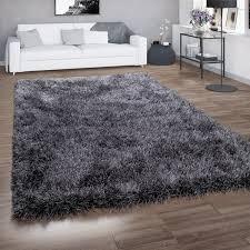 hochflor teppich wohnzimmer shaggy glitzer garn