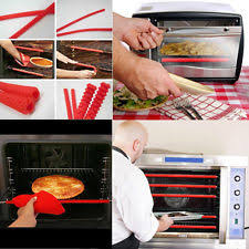 Silicone Oven Rack Edge Clip Guard Heat Resistant Red Set of 2