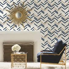 Chevron Stripe Peel And Stick Wallpaper