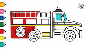 100 How To Draw A Fire Truck For Kids For Kids To Draw Engine YouTube
