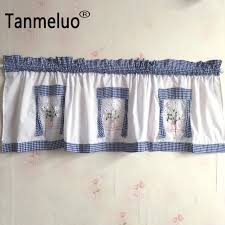 Kitchen Curtain Valance Styles by Plaid Decorative Kitchen Curtains 2 Pieces A Lot New Arrival Short
