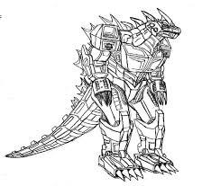 Robot Godzilla Coloring Pages