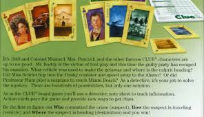 Clue The Card Game Quality Scan Showing Back Of Box From Winning Moves 2007 Edition