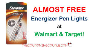 ALMOST FREE Energizer LED Pen Light Walmart and Tar